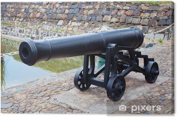 Tableau sur toile Antique fonte de canons de fer au Château de Bonne Espérance, le cap - Afrique