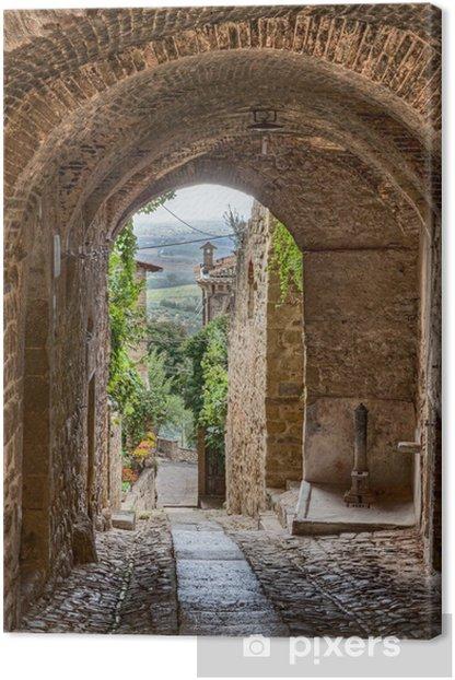 Tableau sur toile Antique italien alley -