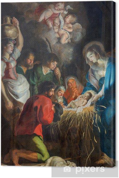 Tableau sur toile Anvers - La scène de la Nativité à l'église Saint-Paul (Paulskerk) - Thèmes
