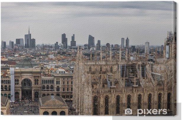 Tableau sur toile Aperçu Milan - Paysages urbains