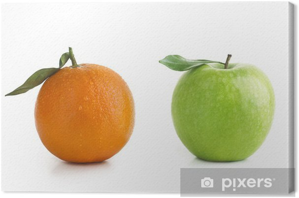 Tableau sur toile Apple et d'Orange différence - Fruits