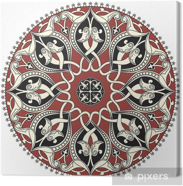 Tableau sur toile Arabe motif circulaire - Arrière plans