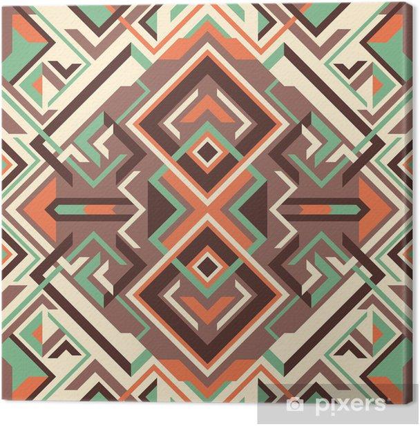 Tableau sur toile Arabesque avec des formes géométriques. - Abstrait