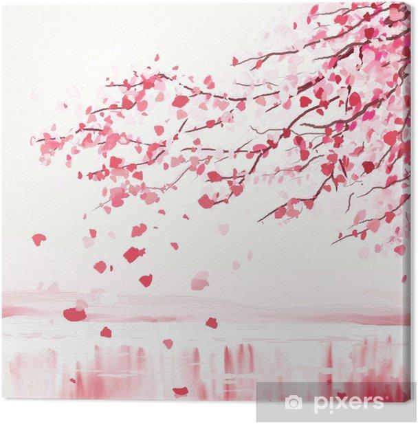 Tableau sur toile Arbre cerisier japonais - Styles