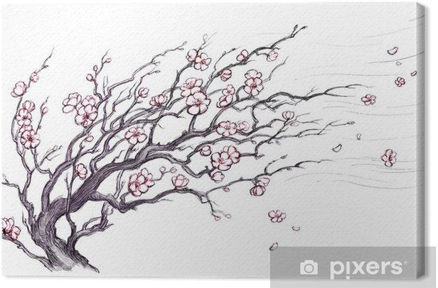 Tableau Sur Toile Arbre Cerisier Japonais Pixers Nous Vivons Pour Changer