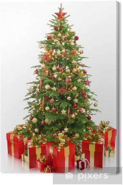 Tableau sur toile Arbre de Noël avec des cadeaux - Fêtes internationales