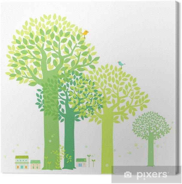 Tableau sur toile Arbre de printemps - Saisons