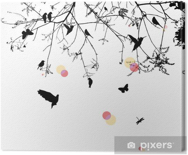 Tableau sur toile Arbre et l'oiseau - Art et création