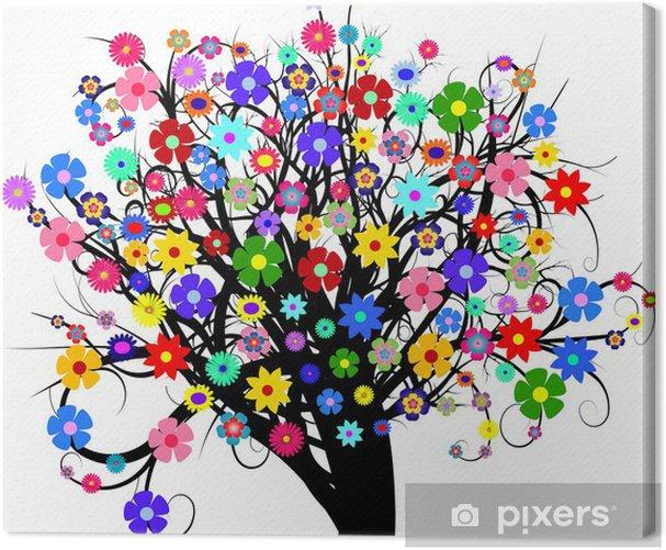 Tableau sur toile Arbre floral - Arbres