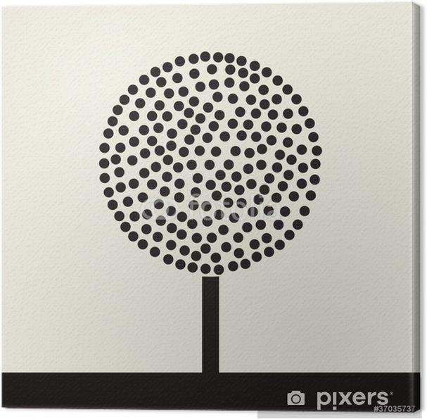 Tableau sur toile Arbre rond de balles. Une illustration vectorielle - Arbres
