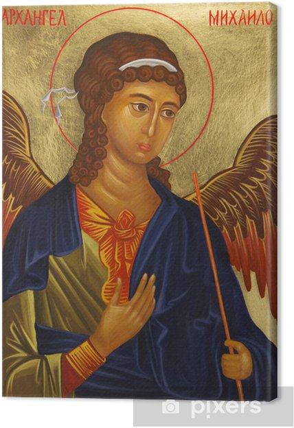 Tableau sur toile Archange Michael icône - Thèmes