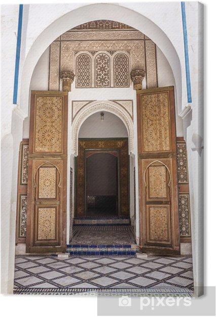 Tableau sur toile Architecture étonnante au Dar Si Said à Marrakech, Maroc - Afrique