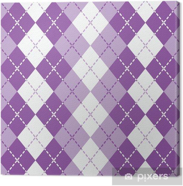 Tableau sur toile Argyle pointillé en violet et blanc se répète de façon transparente. - Ressources graphiques