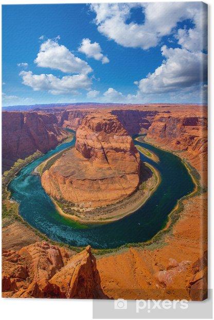 Tableau sur toile Arizona Horseshoe Bend méandre de la rivière Colorado - Amérique