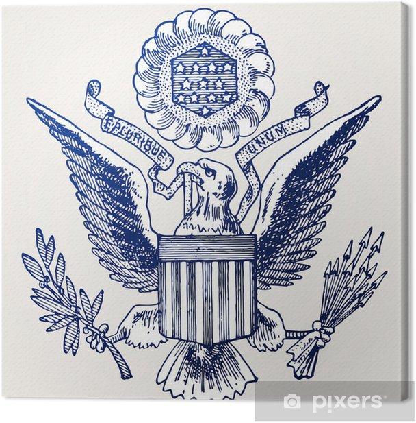 Tableau sur toile Armoirie des Etats-Unis - Amérique