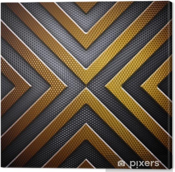 Tableau sur toile Arrière-plan de conception en métal - Textures
