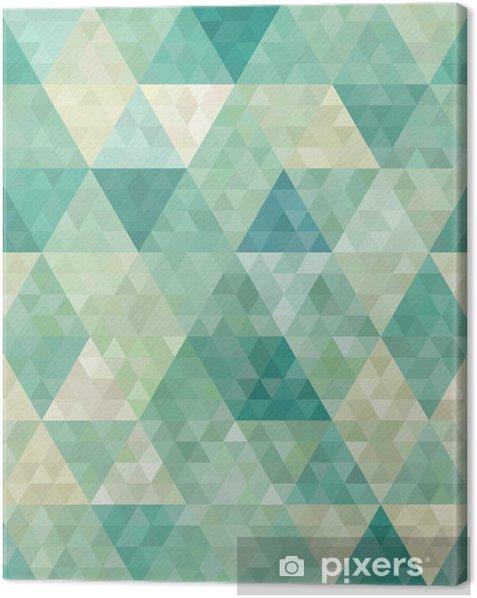 Tableau sur toile Arrière-plan transparent avec ornement géométrique abstrait - Styles
