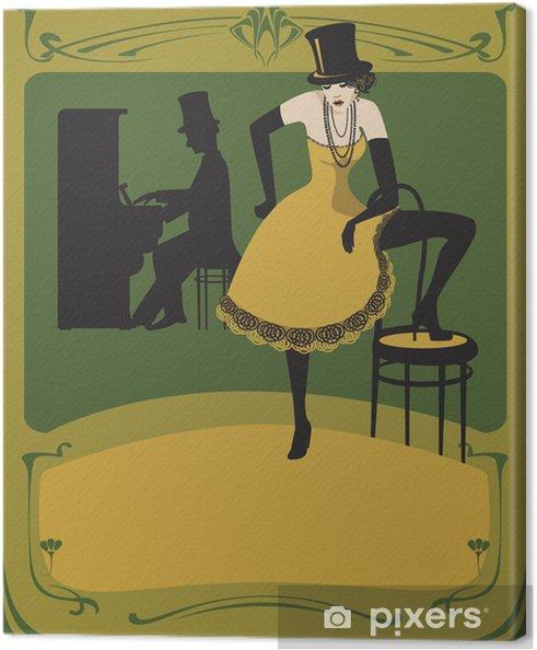 Tableau sur toile Art déco affiches - Musique