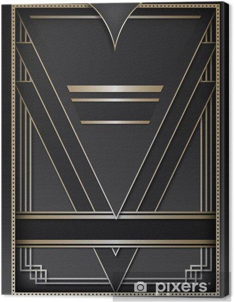 Tableau sur toile Art Deco Contexte et Cadre - Mode