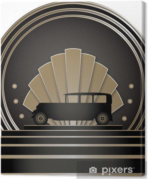 Tableau sur toile Art Deco Orgelet Badge - Arrière plans