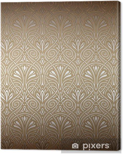 Tableau sur toile Art Nouveau modèle sans soudure - Thèmes