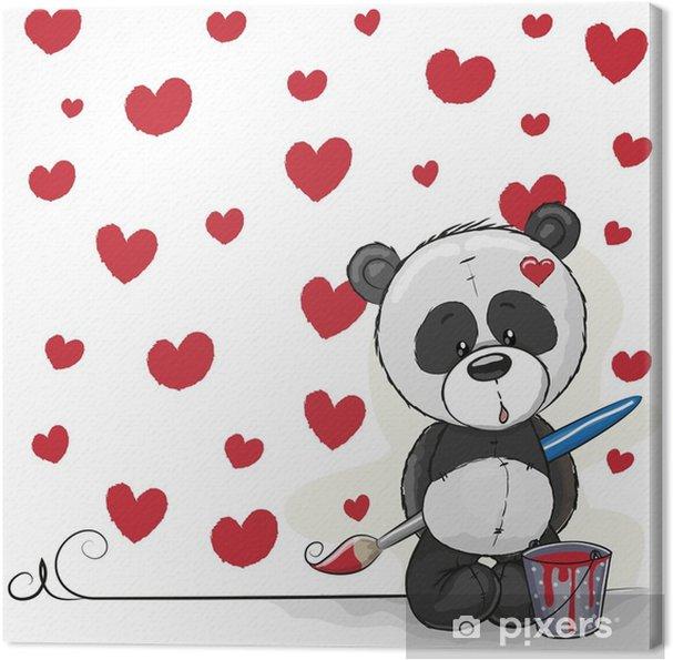 Tableau sur toile Artiste panda - Animaux