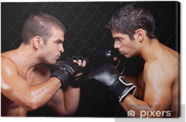 Tableau sur toile Arts martiaux mixtes avant un combat - Thèmes