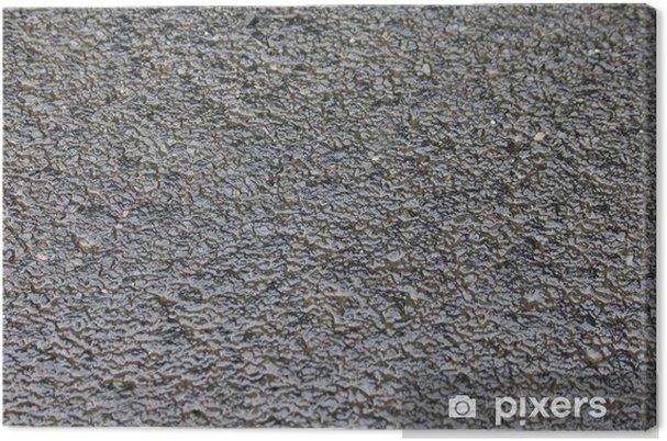 Tableau sur toile Asphalte gris - Textures