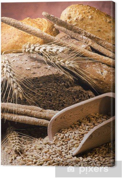 Tableau sur toile Assortiment de pain de grains entiers - Thèmes