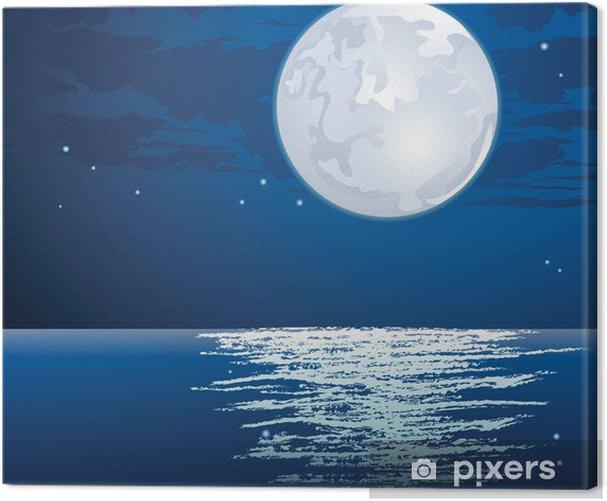Tableau sur toile Au clair de lune - Arrière plans