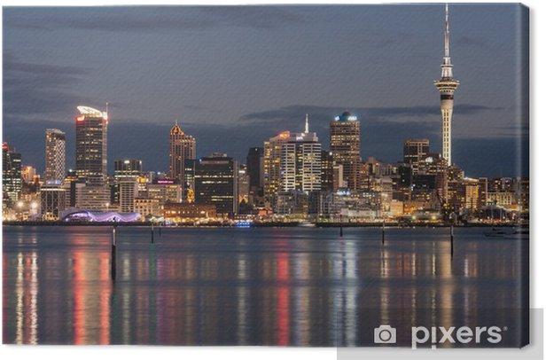 Tableau sur toile Auckland CBD dans la nuit - Océanie