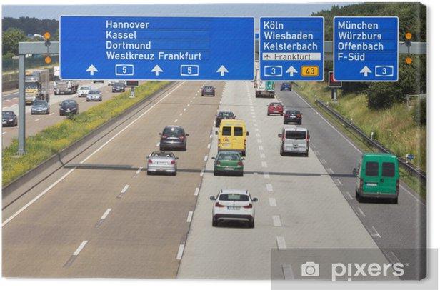 Tableau sur toile Autobahn allemande - Sur la route
