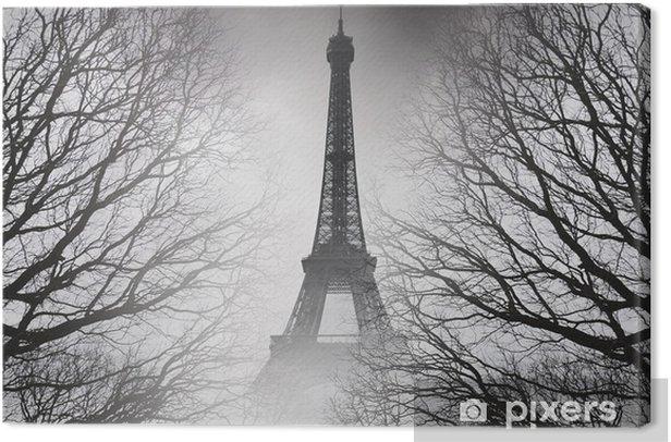 Tableau sur toile Automne à paris - photo noir et blanc. image mystérieuse. - Voyages