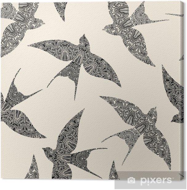 Tableau sur toile Avaler seamless - Styles