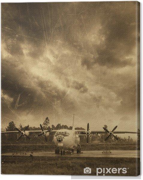 Tableau sur toile Aviation rétro, vieil avion - Styles