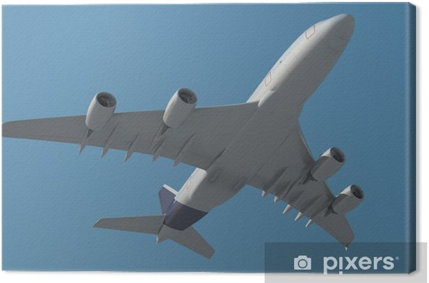 Tableau sur toile Avion de passagers par le bas - Vacances