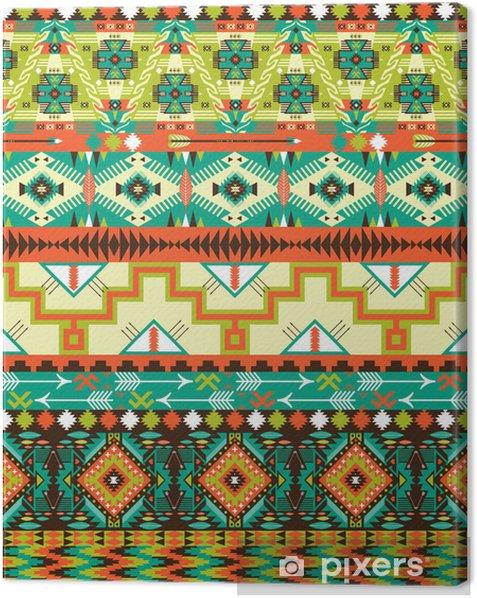 Tableau sur toile Aztec seamless géométrique - Styles