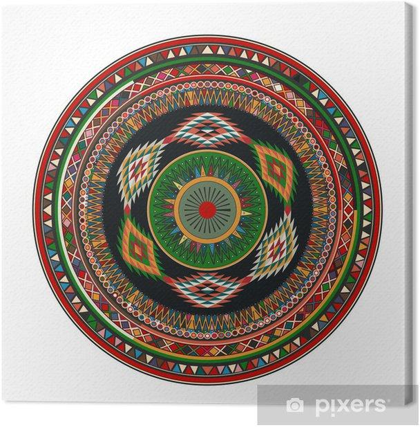Tableau sur toile Aztèque mandala - Sticker mural