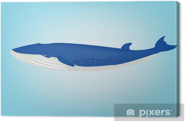 Tableau sur toile Baleine bleue - Autres Autres