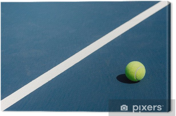 Tableau sur toile Balle de tennis sur le court de tennis - Sports individuels
