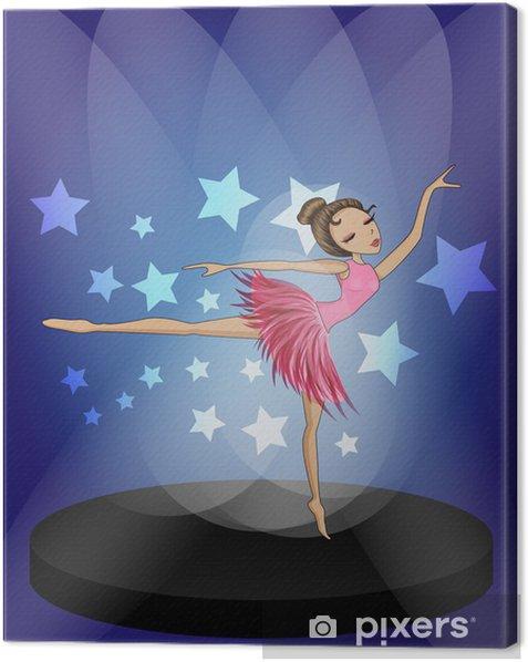 Tableau sur toile Ballerine sur dancefloor -