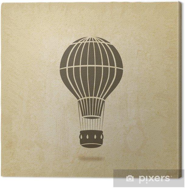 Tableau sur toile Ballon à air chaud vieux fond - Dans les airs
