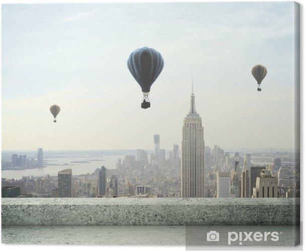 Tableau sur toile Ballon à air sur le ciel - Thèmes