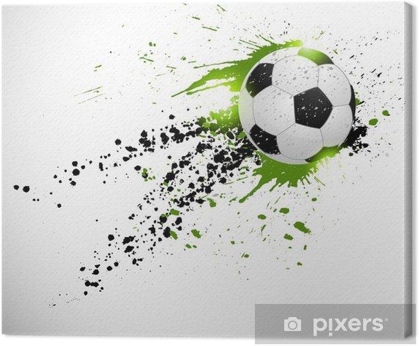 Tableau sur toile Ballon de football en vol - Thèmes