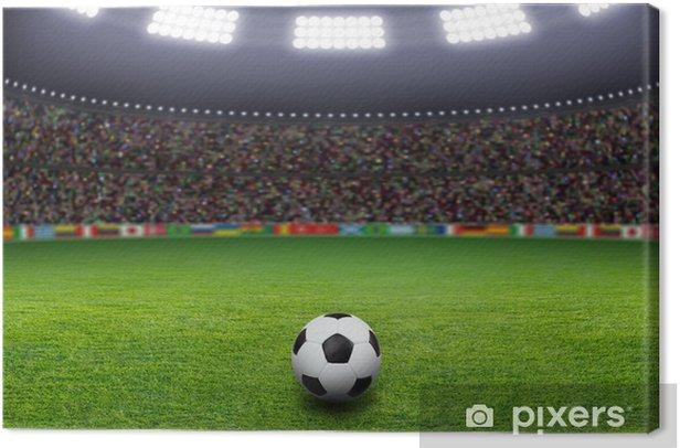 Tableau sur toile Ballon de football, le stade, la lumière - Thèmes