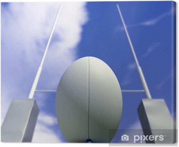 Tableau sur toile Ballon de rugby Conversion - Rugby