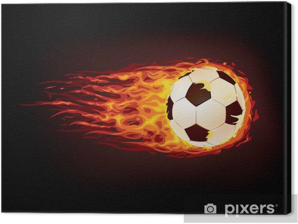 Tableau sur toile Ballon football - Réussite