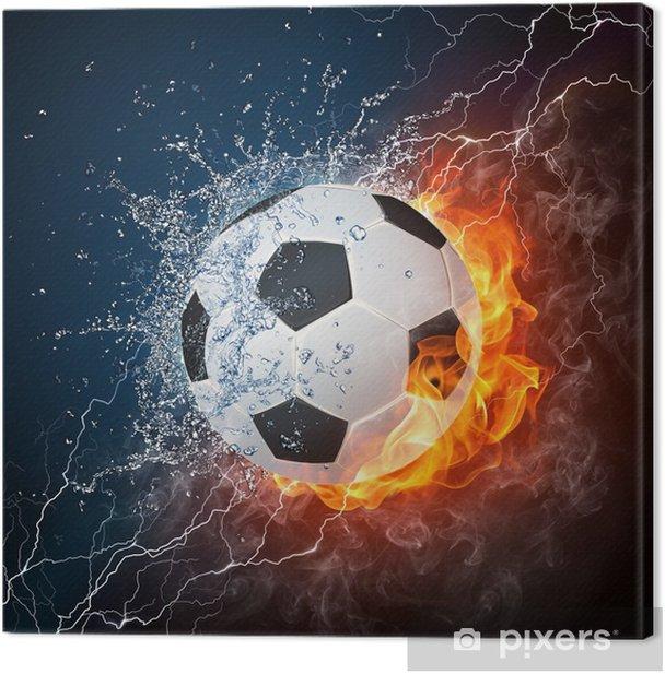 Tableau sur toile Ballon football -
