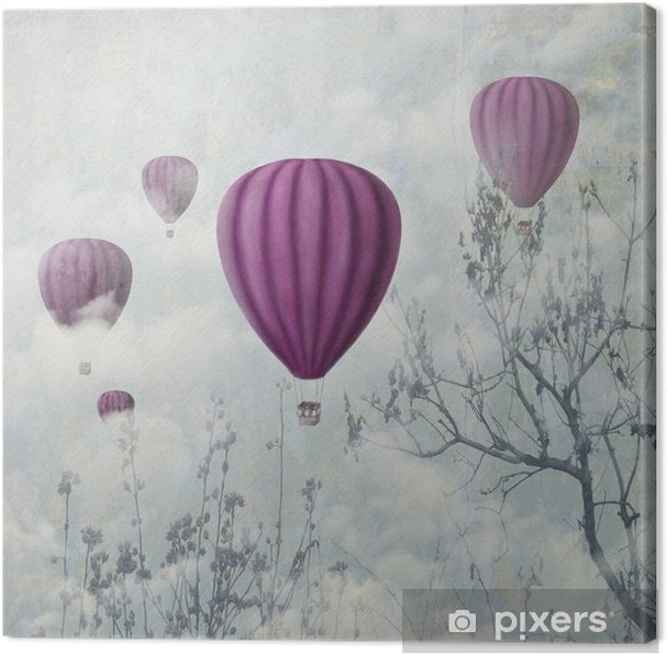 Tableau sur toile Ballons roses - iStaging