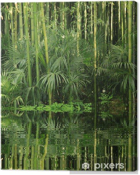 Tableau sur toile Bambou au bord de l eau - Thèmes